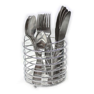 Steel Cutlery 24 Set With Chrome Caddy S