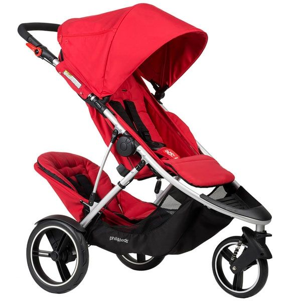 Phil & Teds Dash Buggy V5 Red + Double K