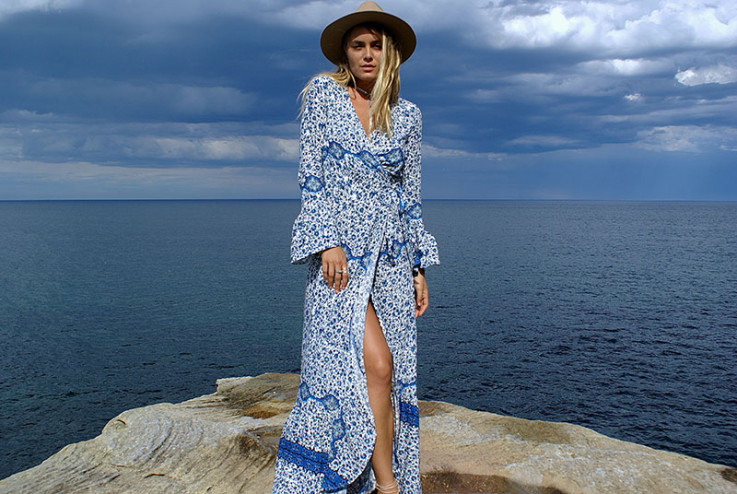 Savannah Wrap Dress - Blue Ivy