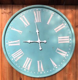 Aqua Wooden Clock