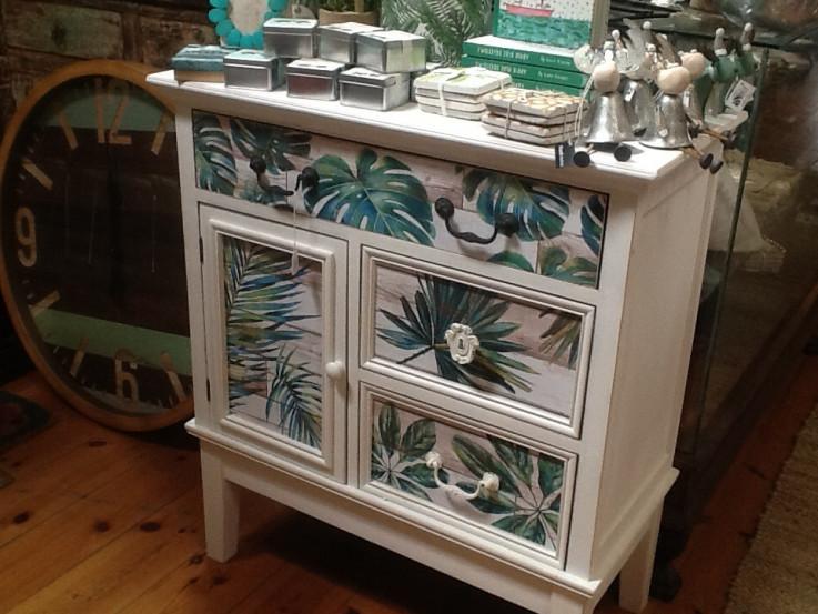 Tropical Jungle White Cabinet
