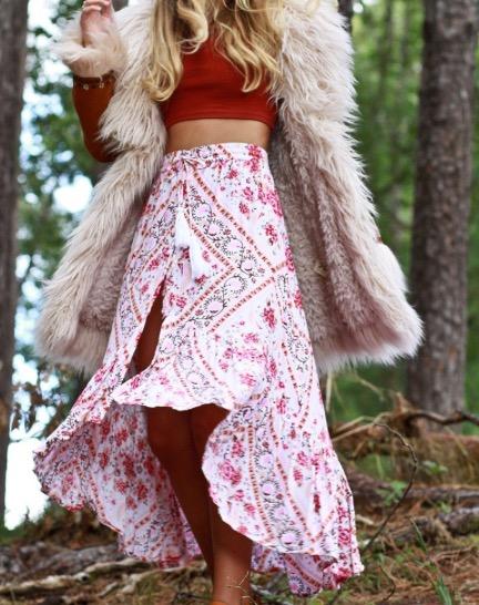Delilah Skirt - Strawberries & Cream