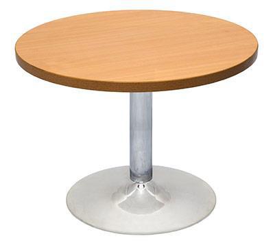 Chrome Base Round Coffee Table