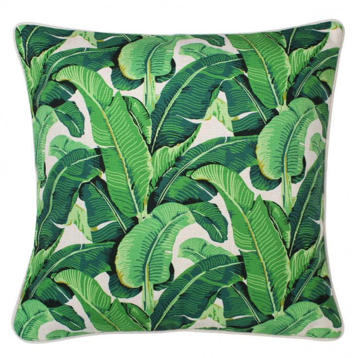 Throw Cushion 'Banana Leaf Green/Beige'