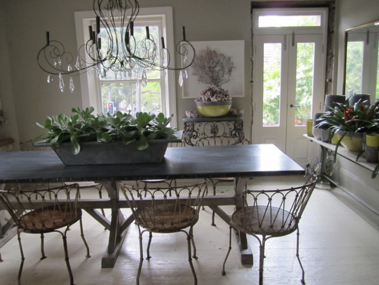 French Zinc Farmhouse Table