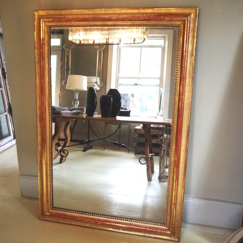 Rectangular Gold Gilt Mirror