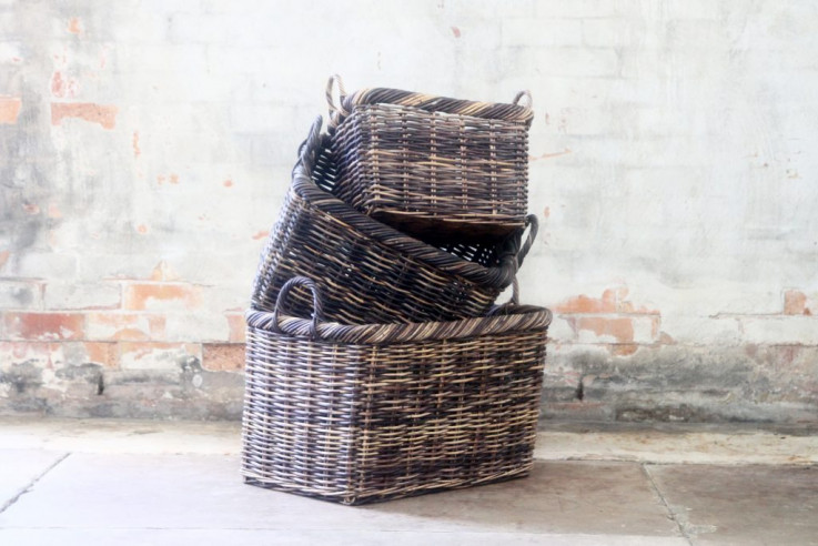 Oiled Woven Baskets