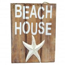 BEACH WALL DECOR 'BEACH HOUSE WITH STAR