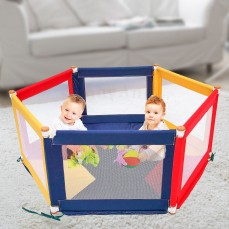 POKANO Hexagonal Fabric Baby Playpen & M
