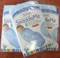 Kiddopotamus SwaddleMe - 3 Small Blue Co