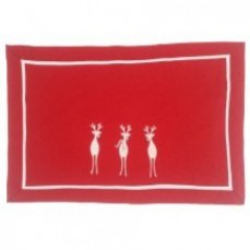 White Reindeer Placemat 30 x 45 cm