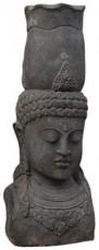 BUDDHA HEAD with pot