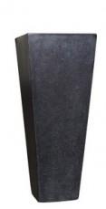 SQUARE TAPERED POT - Medium black with b