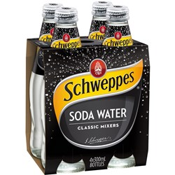 SCHWEPPES SODA WATER 300ml Glass Pack of
