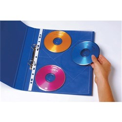MARBIG CD/DVD POCKETS A4 3Pkts/Sheet