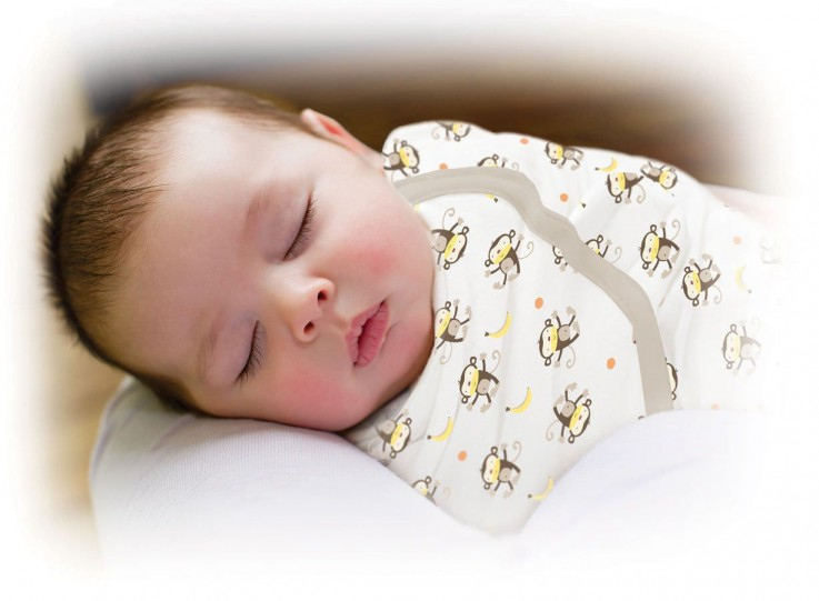 Large Cotton Swaddle Monkey Infant Baby