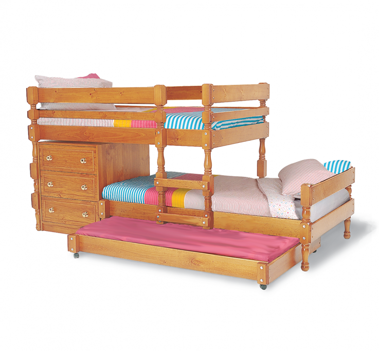 Classic Lo-line longwall Bunk Bed with l