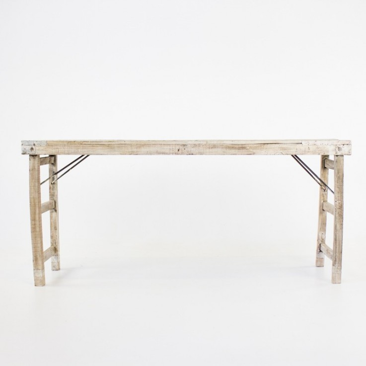 Indian market table with folding legs