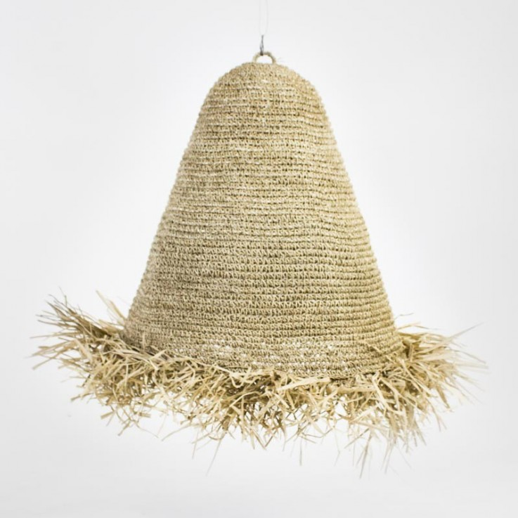 Dome seagrass large lamp shade with frin