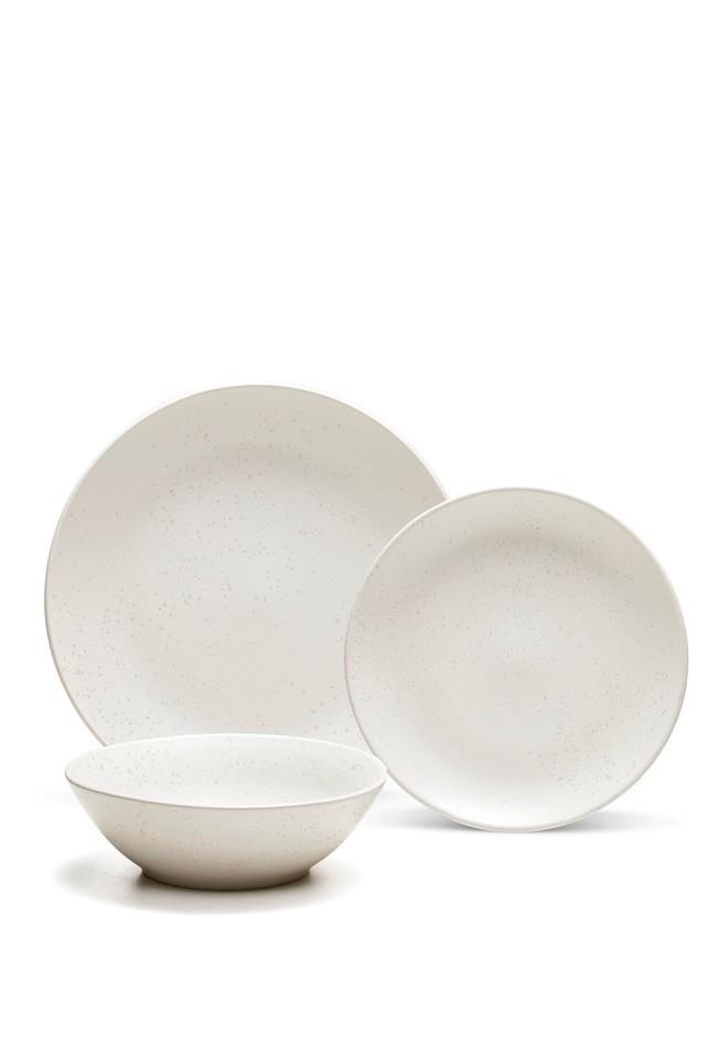 S&P Stonewash dinner set in white 12PC