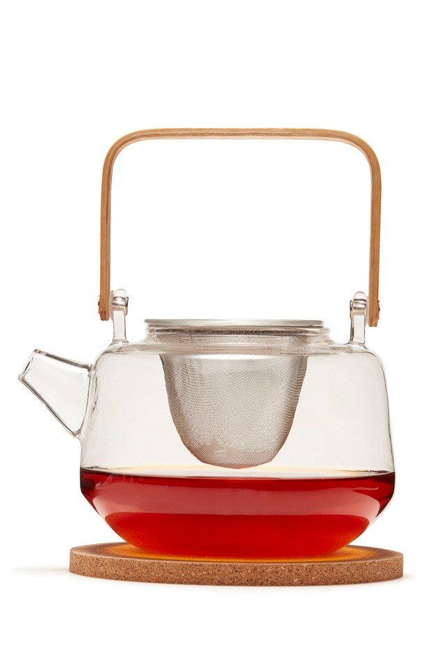S&P Navian Tea Pot Glass with strainer 1