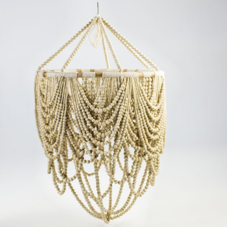 Swag 70cm beaded lamp in natural