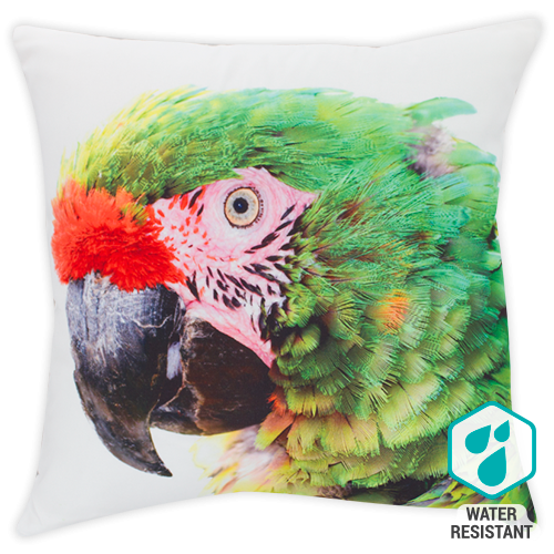 DWBH Parrot cushion in green