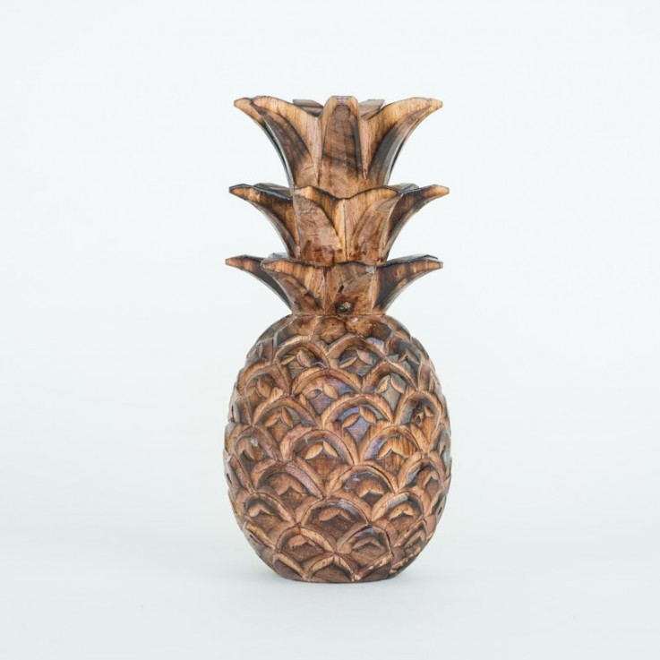 Carved wooden pineapple