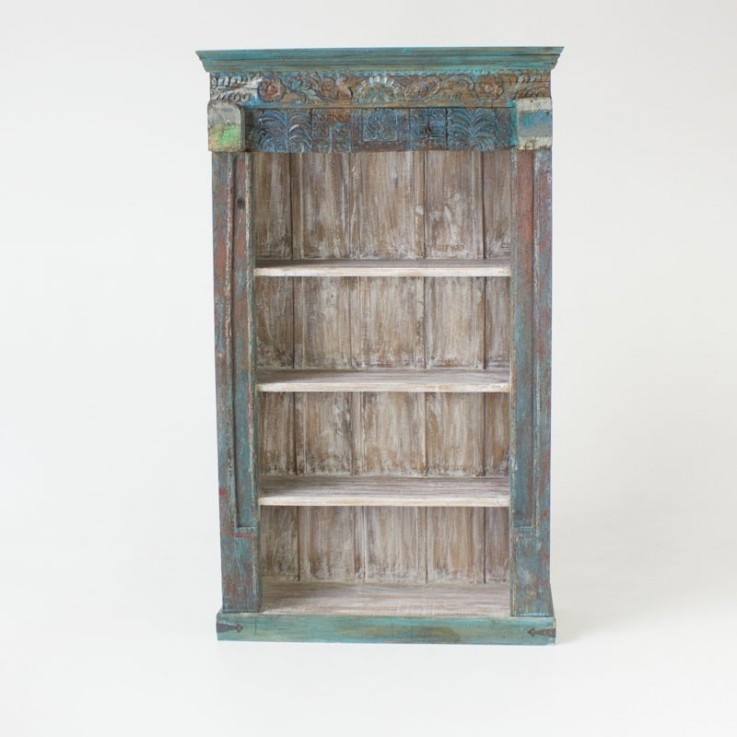 Indian old carved bookcase