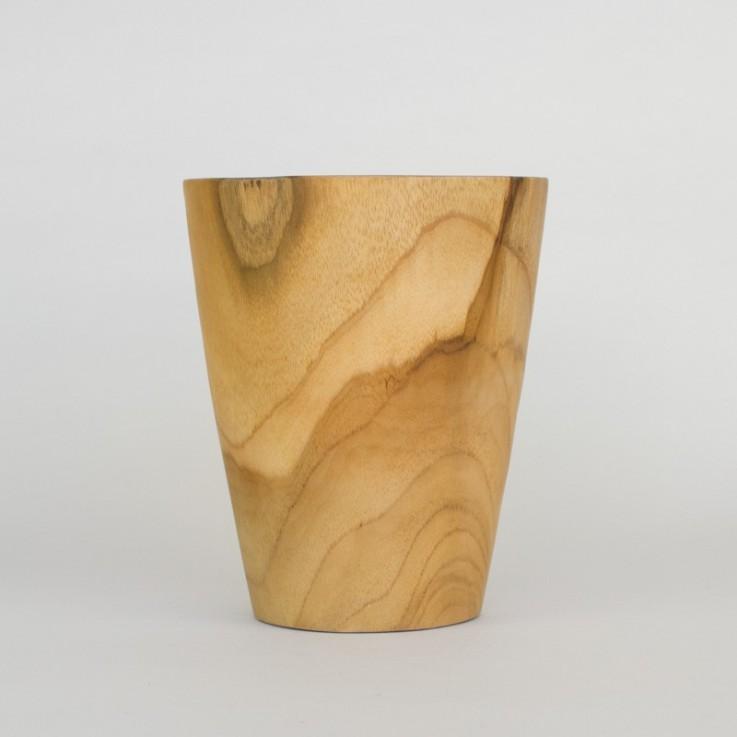 Wooden tall pot