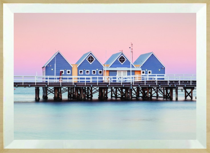 Pastel busselton art with timber frame