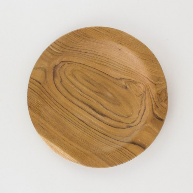 Wooden round plate 30cm