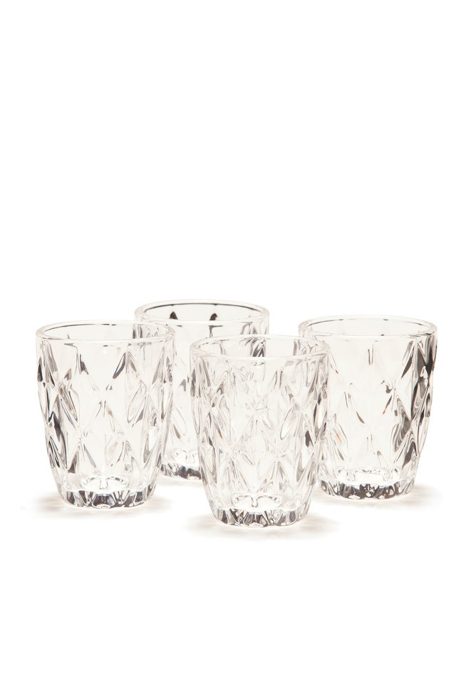 S&P Camden embossed tumbler in clear set