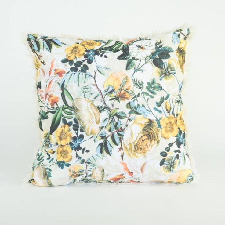 Whimsical garden cushion in gold