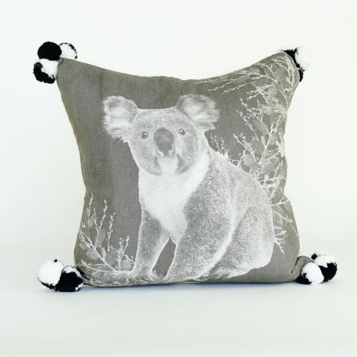 Koala cushion in grey