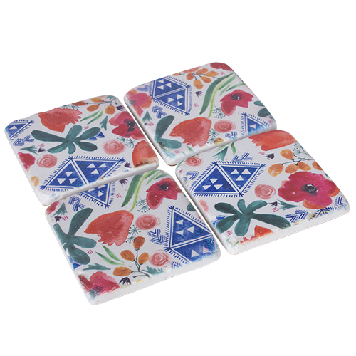 DWBH Floret coasters set of 4