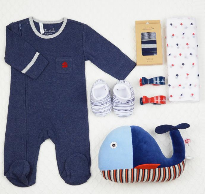 Emotion and Kids Denim & Red Sailor Boat