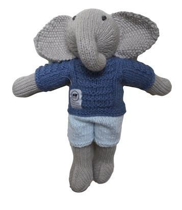 Hand knitted elephant (Harry & Harriet)