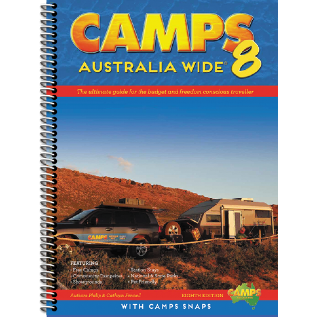 Camps Aust Wide V8 W/Snaps Hard Cover Sp