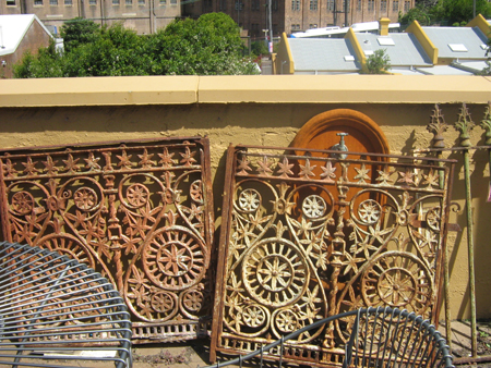 Decorative iron gate