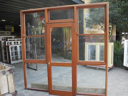 Part B Single Door in Glazed Frame with
