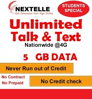 NEXTELLE UNLIMITED MOBILE PLAN W/ 5GB!