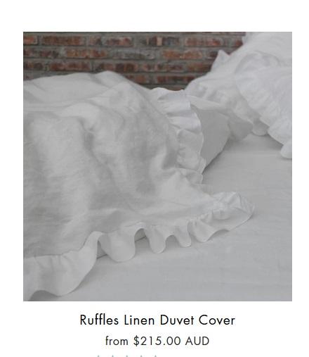 Linen Ruffles Duvet Cover From Linenshed