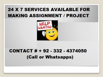 I can make your assignment/project