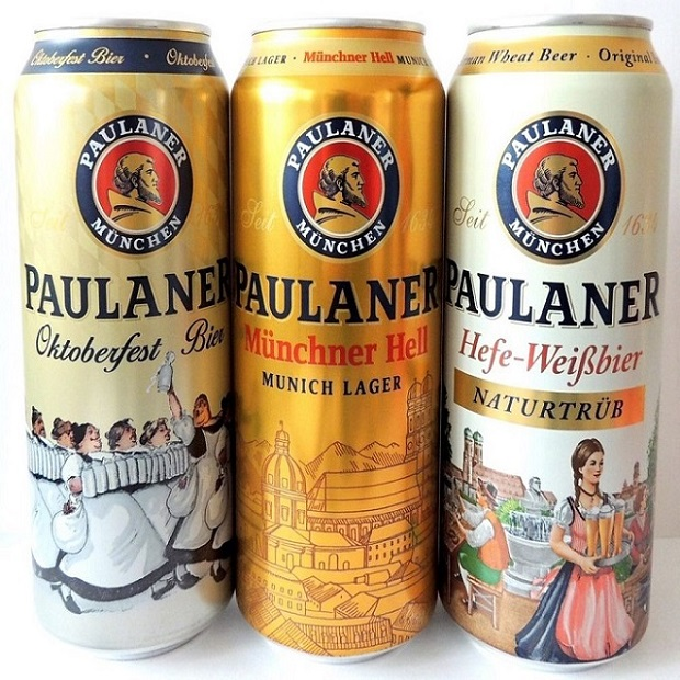 German Paulaner lager beer available for