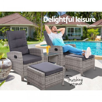 GARDEON OUTDOOR PATIO FURNITURE RECLINER