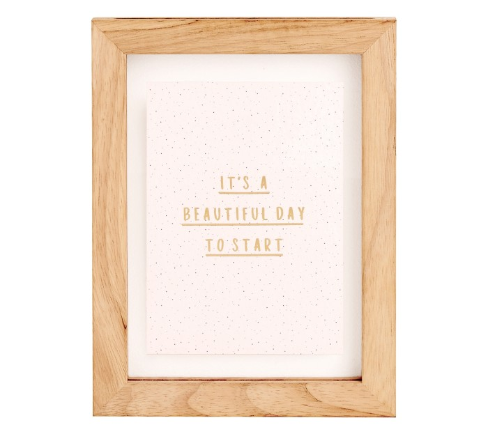 WOODEN FRAME W QUOTE: RITUALS