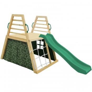 Cooper Climbing Frame & 1.8m Green Slide