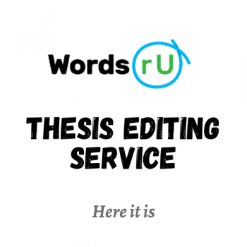 Thesis Editing and Proof Reading | WordsRU