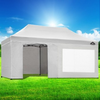 Instahut Gazebo Pop Up Marquee 3x6m Fold